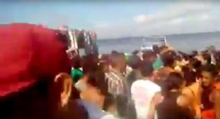 Brezilya'da nehirdeki tekne battı