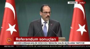 Kalın: [Defarges'in açıklamaları] Bunlar Erdoğan düşmanlığı üzerinden siyaset yapanların yazdığı senaryodur