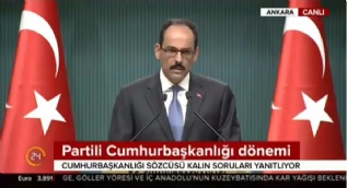Cumhurbaşkanlığı Sözcüsü Kalın: [Erdoğan'ın partiye üyeliği] Değerlendirmeleri Adalet ve Kalkınma Partisi yapacaktır