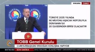 Cumhurbaşkanı Erdoğan: Kişi başına milli geliri 25 bin dolar hedefinin üzerine çıkaracağız