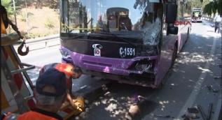 Beylerbeyi Tüneli'nde halk otobüsü 9 otomobile çarptıktan sonra durabildi; 11 yaralı