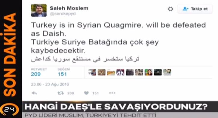 PYD lideri M�slim T�rkiye'yi tehdit etti