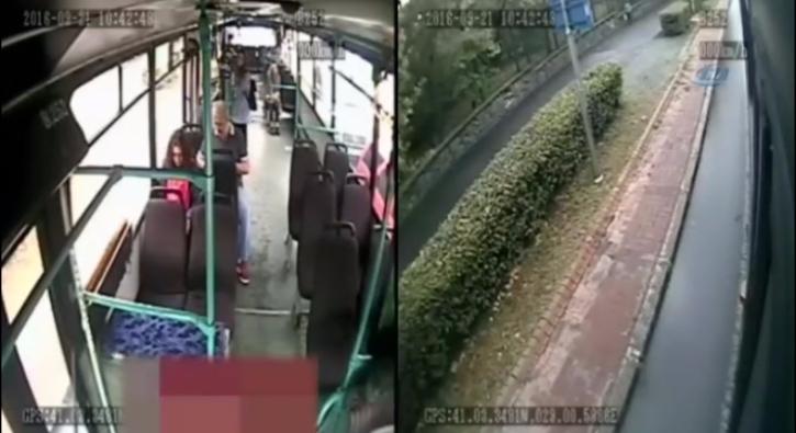 Otob�ste unutulan telefonu cebine atan yolcu