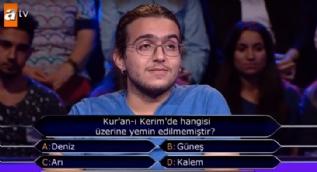 1 milyonluk soru Kur'an-ı Kerim'den geldi