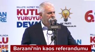 Başbakan Yıldırım: Referandumun ertelenmesini değil iptalini istiyoruz