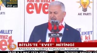 Başbakan Yıldırım: Alçak PKK görsün bunları