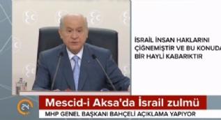 MHP lideri Bahçeli'den İsrail'e sert eleştiri: İsrail'in yöntemi terörden farksızdır