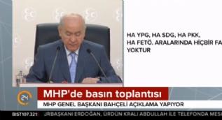 MHP lideri Bahçeli: Türk milleti efendilik taslayanları, parmak sallayanları her zaman şaşkına çevirecektir