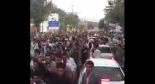 İran'da yüzlerce kişi IKBY'nin sözde referandumuna destek vermek için sokağa çıktı