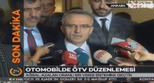 Maliye Bakanı Naci Ağbal: Azalan oranlı bir vergi sistemine geçtik