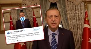 Cumhurbaşkanı Erdoğan'dan videolu teşekkür mesajı