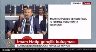 Cumhurbaşkanı Erdoğan: Meşru olamayan hiçbir işle İmam Hatipli yan yana gelemez