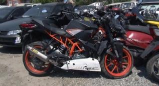 İşte Barkın Bayoğlu'nun kaza yaptığı sırada kullandığı motosiklet