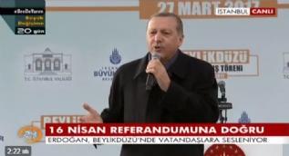 Erdoğan: Sizin her yeriniz silah olsa ne yazar, Rabbimin verdiği ömrü sizin almaya gücünüz yetmez