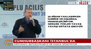 Erdoğan: Camimizin duvarına 'GAMALI HAÇ' çizen, siz değil misiniz?