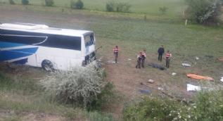 Ankara-Çankırı Karayolunda otobüs kazası: 8 kişi hayatını kaybetti