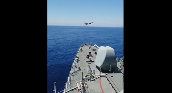 Fatih Sondaj Gemisi´ne F-16 selamı