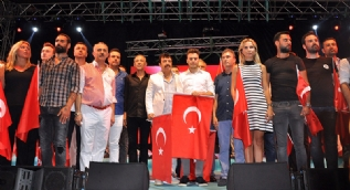 Cumhurba�kan� Erdo�an Be�tepe'de a��l��a kat�ld�