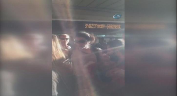 Kad�nlar�n metrob�s kavgas� kamerada