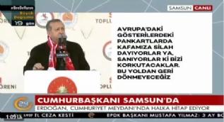 Erdoğan: Biz tehditlere itibar etmeyiz, her şey İsviçre polisinin gözü önünde oldu