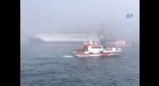 Rus askeri gemisinde bulunan 78 personel böyle kurtarıldı