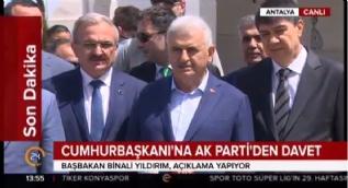 Başbakan Binali Yıldırım: Sayın Cumhurbaşkanımız 2 Mayıs'ta partiye üyeliği başlayacak