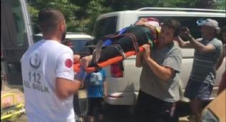 Aşırı sıcaktan bayılan otel çalışanı hastaneye kaldırıldı