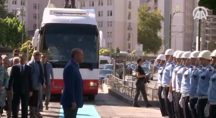 Cumhurba�kan� Erdo�an'dan Gaziantep Valili�i'ne ziyaret