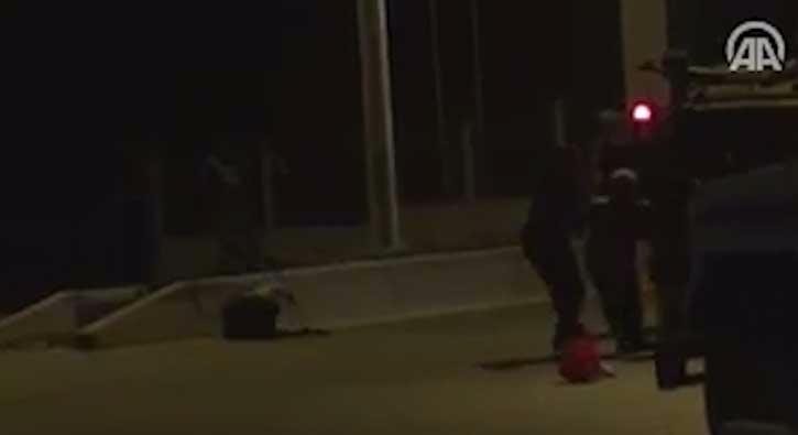Darbecilere direnen kad�n�n vurulma an� kamerada
