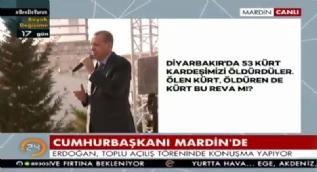 Diyarbakır'da 53 Kürt vatandaşlarımızı öldürdüler, benim o Kürt vatandaşlarımdan ne istediniz?