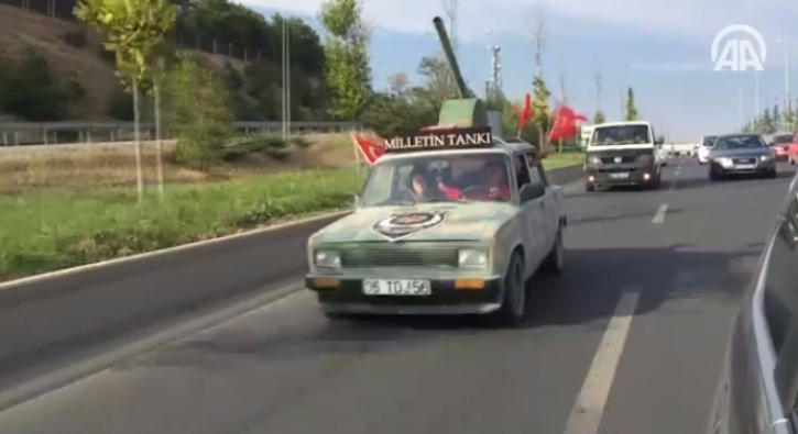 'Milletin Tank�' Ba�kent caddelerinde